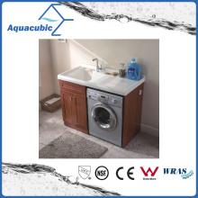 Двойные двери Ванная комната тщеславие бассейна с искусственной смолы (ACF8911)