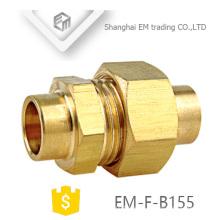 EM-F-B155 conexión de tubería adaptadora reductora de latón hembra a macho