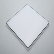 Transparent solid polycarbonate sheet panel