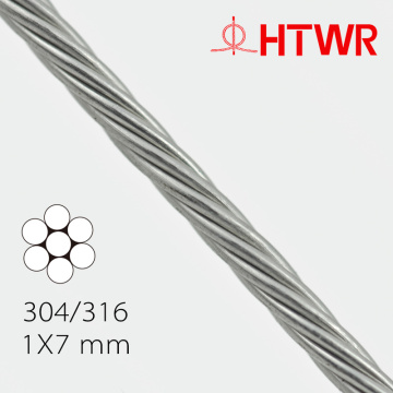 Stainless Steel Wire Rope 1X7 0.27mm 304