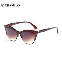 hot sell half rim cat eye brand sunglasses