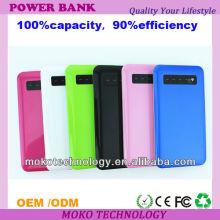 banco de energia móvel colorido com capacidade diferente