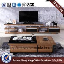 Oak Color Melamine Living Room Furniture TV Stand (HX-6M298)