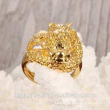 Anel antigo de moda do anel de casamento do chapeamento de chapeamento do ouro da venda