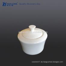 Plain reine weiße Kaffee Zucker Schüssel Knochen China für Café und Hotel