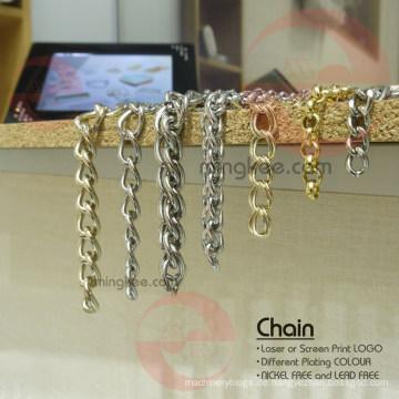 Handtasche Verwendung von Gold und Silber Schwarz Metall Messing Eisenkette