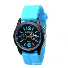 New Design Colorful Students Silicone Strap Watch