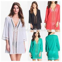 Vestido sin mangas para niñas sin mangas Vestido para mujeres con mangas cortas Marokkanische con estampado de algodón
