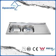 Above Counter Stainless Steel Moduled Kitchen Sink (ACS-12050DA)