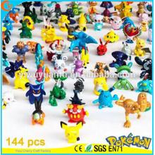Alta calidad encantadora moda popular juguete Pokemon dibujos animados de varios colores de peluche 144 diseños Mini Pokemon Go Pokeball