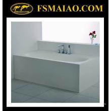 Cómoda bañera de superficie sólida independiente de tamaño rectangular (BS-8620)