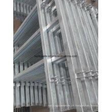 Bauernhof-Ausrüstungs-Metallzaun-Eisen zäunt Aluminiumleitschienen