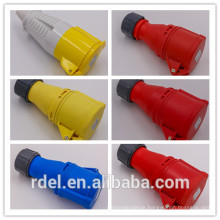 LP-02 16A-9H 200-250V 3P+E IP44 CE INDUSTRIAL PLUG COUPLER