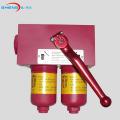 Carcaça duplex do filtro de óleo em linha de alta pressão