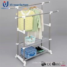 Stainless Steel Double Pole Telescopic Clothes Hanger