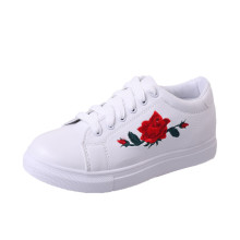 single Shoes Sneakers Embroidery patch Flower New