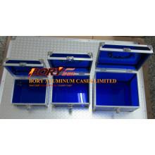 Ausgefallene blaue transparente Acryl-Make-up-Hülle