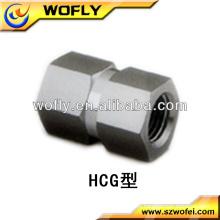 Aço inoxidável Dupla porca de acoplamento do eixo hexagonal fêmea