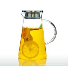 2L Экологичный борсиликатный стеклянный горшок Водный чайник Бутылка для воды