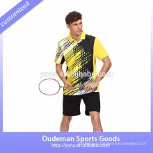 Ropa de bádminton sublimada de encargo del equipo, jersey de desgaste de bádminton de tenis de secado rápido de jersey de deportes unisex
