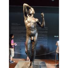 garden decoration sculpture metal craft bronze nude man sculpture