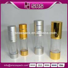 Atacado garrafa de cosméticos vazio Airless Pump Container Para Skincare E 15ml 20ml 30ml 50ml 100ml 200ml Garrafa de plástico
