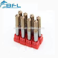 Fraises en bout BFL à 6 cannelures, Fraises en carbure de 6 cannelures