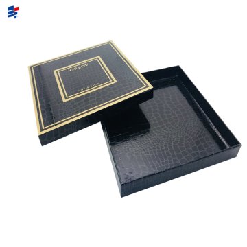 Black Square Face Care Product Paper Box