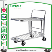 Chariot de cargaison d'entrepôt de plate-forme de supermarché