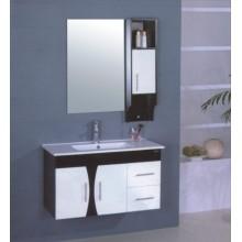 Muebles del gabinete de cuarto de baño del PVC de los 90cm (B-505B)