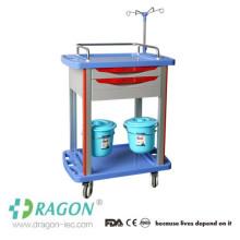 DW-TT005 kostengünstiger Krankenhausbehandlungswagen mit gleitendem Seitenregal