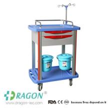 DW-TT005 cost-effective hospital treatment trolley with sliding side shelf
