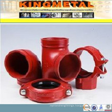 FM UL Approved Ductile Iron Material Grooved End Fittings