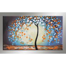 Pintura abstracta moderna hecha a mano del cuchillo de paleta