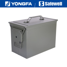 Fat. 50 Cal Metal Bullet Box Ammo Can for Gun Safe