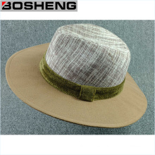 Sombrero ancho de la bóveda de la lana de la lana caliente de la lana