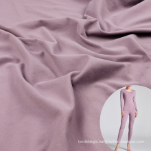 polyamide seamless cutting double sided fleece lycra brushed fabric for thermal pants