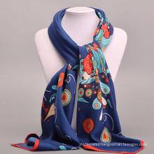 Comfortable Pretty women 100*100cm print square scarf wholesale women design silk scarves silk