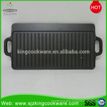 Outdoor cast iron reversible bbq grill plate