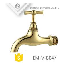 EM-V-B047 Robinet à bibcock d'eau en laiton poli