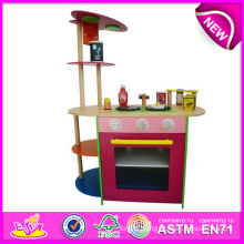 2014 Role Play Toy Kitchen for Kids, Colorful Wooden Toy Kitchen Set for Children, Hot Sale Wooden Toy Kitchen for Baby W10c086