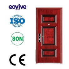Portas de segurança de aço superiores painéis decorativos de seis