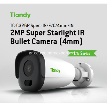 2MP Super Starlight IR Κάμερα Bullet Tiandy TC-C32GPIN