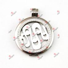 Pendentif à charmes de pendentifs de monnaie en cristal en acier inoxydable de 38 mm (SCL50925)