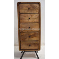 Art Deco Retro Mango Wood Drawer Cabinet