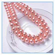 China well popular yiwu pujiang round glass pearl beads