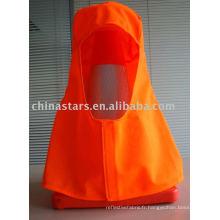 Hotte haute visibilité en couleur orange et jaune