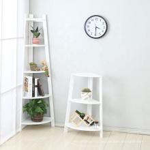 Living room cheap lower wood corner wall shelf