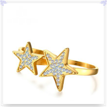 Crystal Jewelry Fashion Accessories Stainless Steel Ring (SR826)