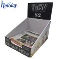 Support d'affichage de carton de magazine de papier, support pliable de magazine